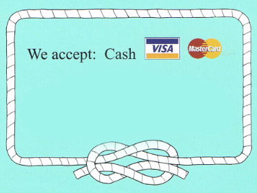 We Accept Cash, Visa and Mastercard