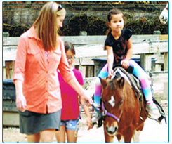 Children Petting the Horse